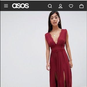 Beautiful burgundy maxi dress